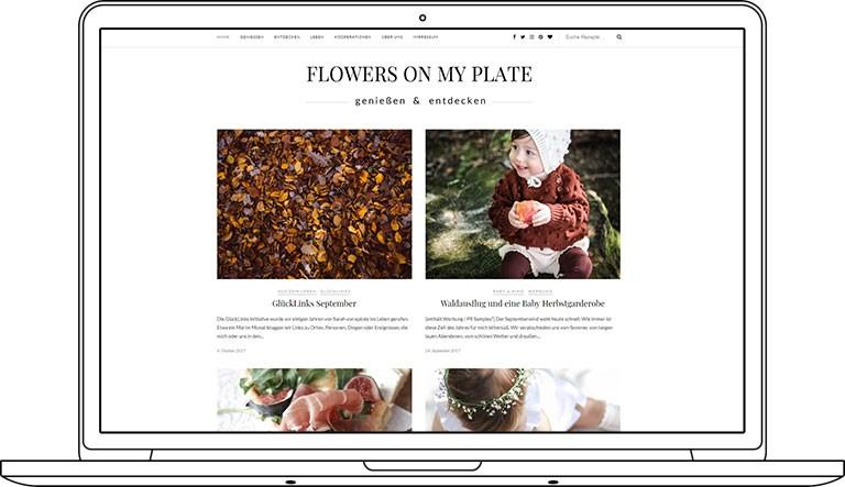 Webdesign für einen Foodblog